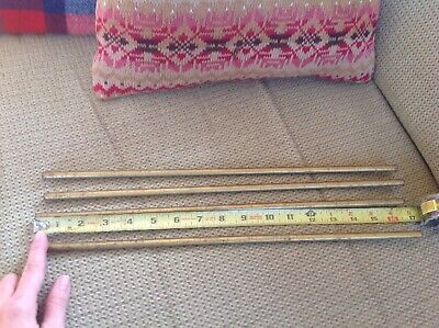 Victorian Brass Curtain Pole? Pipe Holders Brackets Old Antique Vintage Hook 3/8