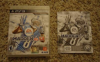 ORIGINAL CASE AND MANUAL ONLY Madden NFL 13 2013 Playstation 3 PS3 Sony EA Sport