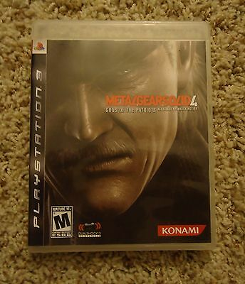ORIGINAL CASE ONLY Metal Gear Solid 4 PS3 Sony PS Playstation 3 Play Station