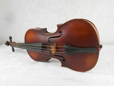 Old Antique German Violin Stradiuarius Copy With Case And Bow size 4/4