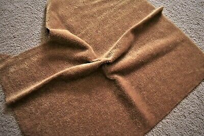 Quality Tan Mohair w/brown backing.53 x 34 plus for Bearmaking