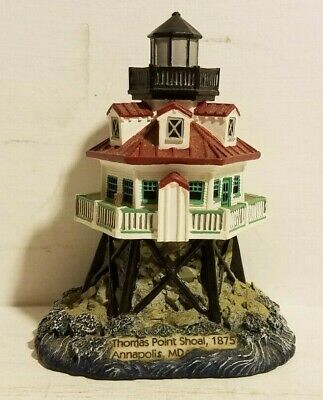 Thomas Point Shoal, 1875 Annapolis, Md 1999 Geo Z Lefton Lighthouse Pre-Owned