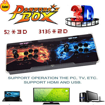USA Pandora's Box 12S 3188 Games 2D/3D video game Double-players game Home New