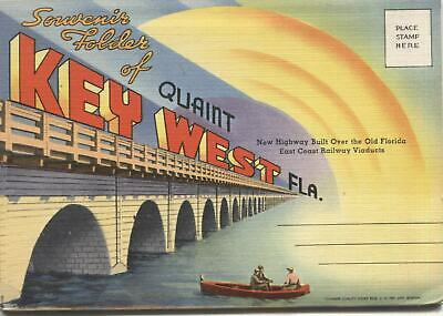 Key West, Florida Vintage Souvenir Postcard Folder