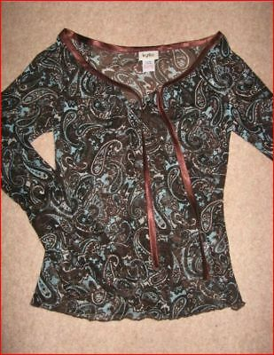 New Mackays Kylie Girl's Latin / Salsa Party Dance Top Blouse Age 9 Years Bnwt