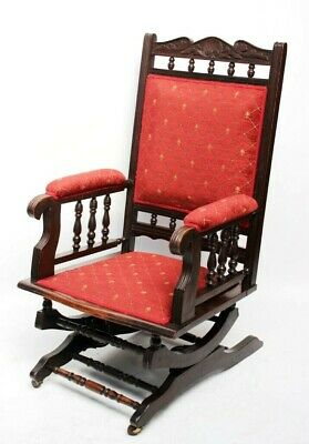 Antique Victorian Mahogany Rocking Chair [6000]