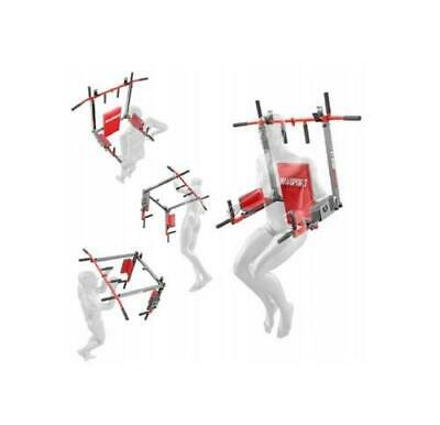 Klimmzugstange K-Sport Reckstange Turnstange Pull Up Bar Dip Wandmontage 2in1