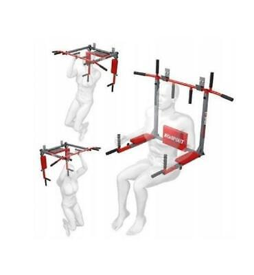 Pull Up Bar Dip K-Sport Klimmzugstange Reckstange Wandmontage Turnstange 2in1