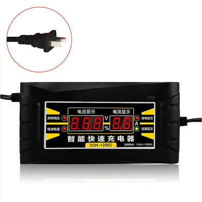 12V 6A Smart Battery Charger Portable Battery Maintainer for Car US Plug