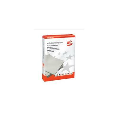G60 5 Star Value Copier Paper Ream-Wrapped FSC 80gsm A4 White [5 x 500 Sheets]