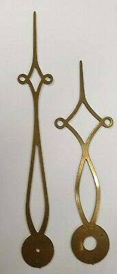 A Large Pair Of Diamond Style Brass Longcase/Grandfather Clock Hands.