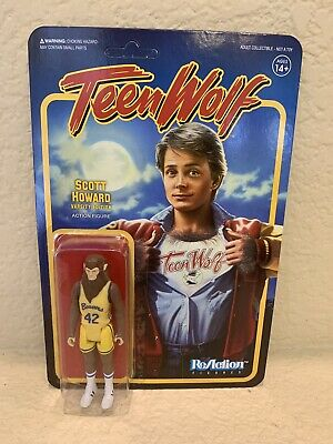 TEEN WOLF 1985 VARSITY SCOTT REACTION 3.75 INCH Michael J Fox FIGURE SUPER 7