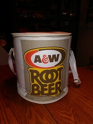 Vintage Rare A&W Root Beer Round Vinyl  Cooler