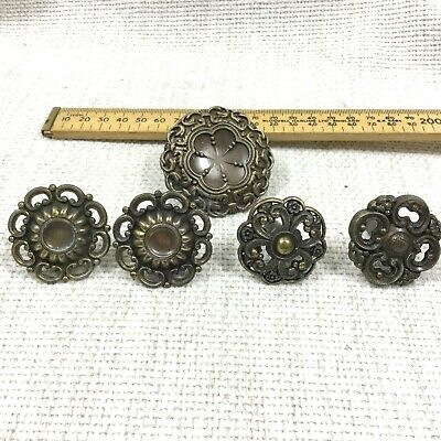 Vintage Drawer Pull Handles Mixed Job Lot Ornate Rococo Old Reclaimed Salvaged