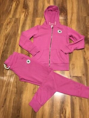 Converse All Star Girls Pink Tracksuit Age 10-12 Years Old (140-152)