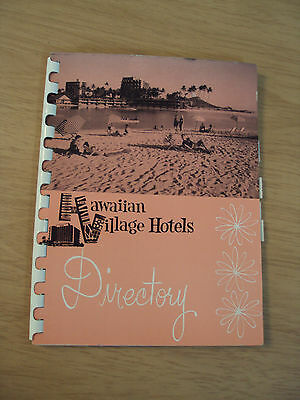 "RARE 1960 Directory for ""HAWAIIAN VILLAGE HOTELS""~Amazing CONTENT~"