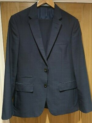 Men's Stunning M&S Marks&Spencer Navy Smart Business 2pc Suit 38R & 34S Tailored