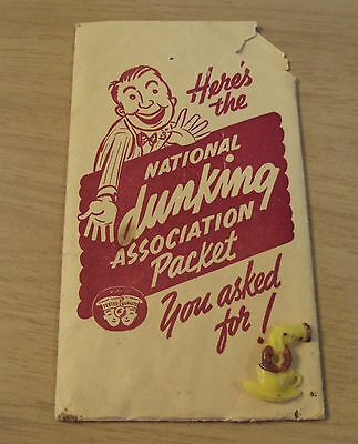 """UNIQUE 1940's Booklets/Card/Label PIN Packet~""""DONUT DUNKING ASSOCIATION""""~"""