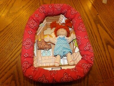 CABBAGE PATCH KID small 4in dolls in frames BLOND 003