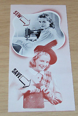 """VTG ca 1940 ADVERTISING Brochure~""""WHITE Rotary ELECTRIC SEWING MACHINE""""~"""