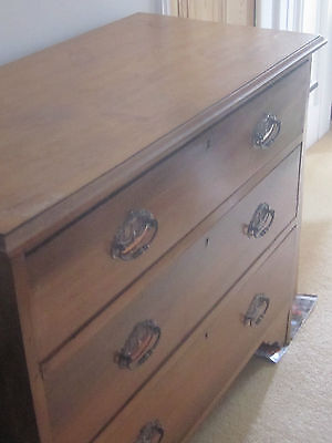 Original Arts and Crafts dressing table chest of draws with original handles
