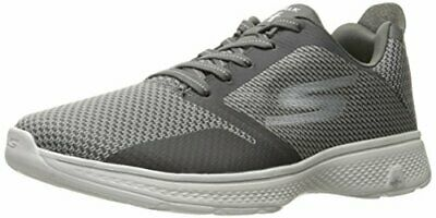 SKECHERS Mens Performance GO WALK 3 FIT KNIT Charcoal Orange Size 7 D