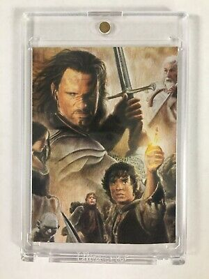 2013 Signed LORD OF THE RINGS Artist Sketch Card Aragorn & Frodo