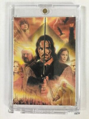 2013 Signed LORD OF THE RINGS Artist Sketch Card Aragorn 1/1