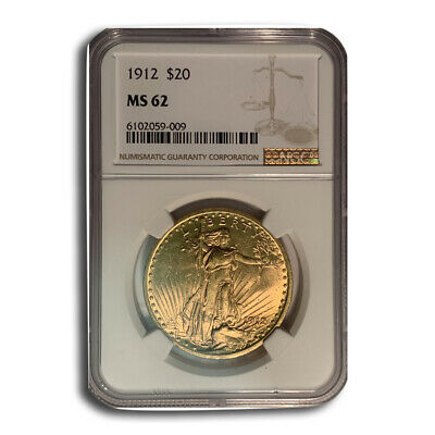 1912 $20 Saint-Gaudens Gold Double Eagle MS-62 NGC - SKU#66494