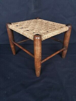 Charming antique early 20th century arts and crafts stool