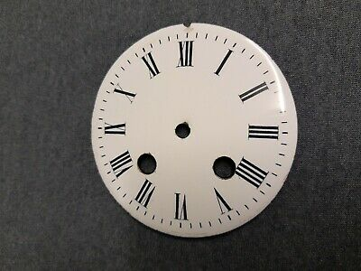 "4"" Diameter French Mantle Clock Enamel Porcelain Dial"