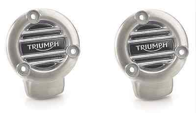 Triumph Thruxton R Brushed Ribbed Throttle Body Covers Kit A9610352