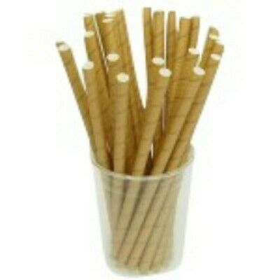 NEW Kraft Biodegradable Paper Jumbo Straws - 10mm - CARTON(2500) - Kent Paper