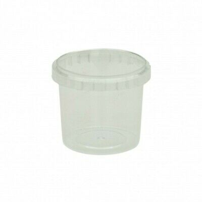 NEW Clear Plastic Tamperproof Containers - 90mm - 117mm - 17.5oz (520ml)