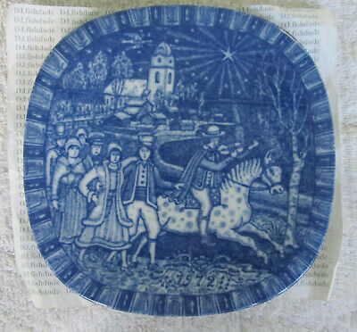 Collector Plate Christmas Julen Horse  Limited Edition Blue 1972