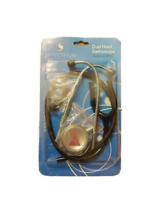 new spectrum stethoscope professional medical cardiology dual head black 22 inch