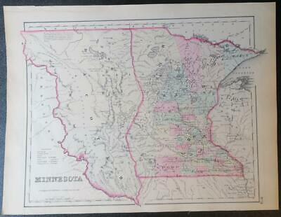 Orig. 1853 Colton's Dacotah & Minnesota;Propsed Northern Pacific Railroad Route;