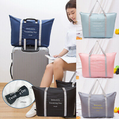 US Portable Waterpoof Foldable Travel Luggage Baggage Storage CarryOn Duffle Bag
