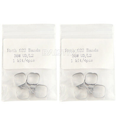 50Bags AZDENT Orthodontic Band & Buccal Tubes Dental 022 Roth 38# For 1st Molar