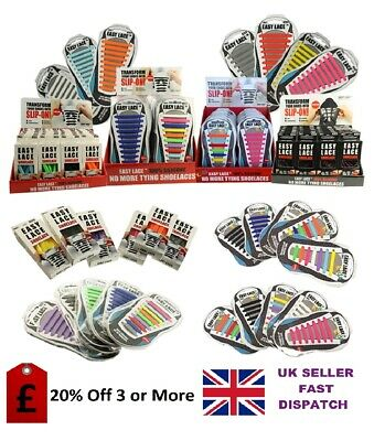 Easy Lace No Tie Shoelaces for Trainers, Converse,Smart Shoes &  Kids Shoes