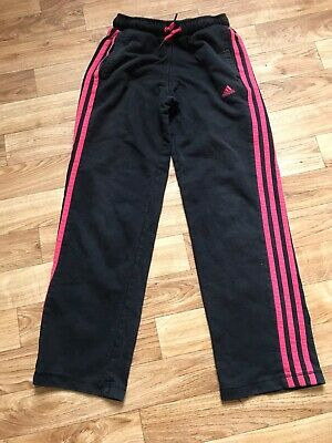 Girls 9-10 Years Adidas Track Suit Bottoms