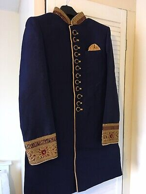 Men's Indian Asian Grooms Outfit/Sherwani Small Size 36