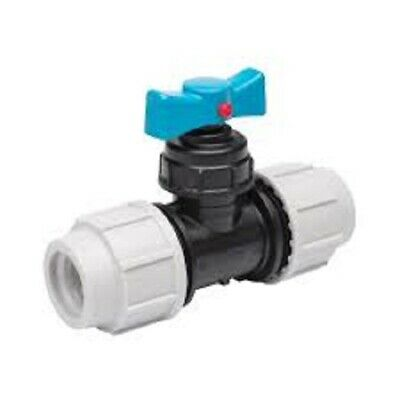 Plasson Stop Tap Valve WRAS Approved Compression MDPE Pipe  20mm to 32mm