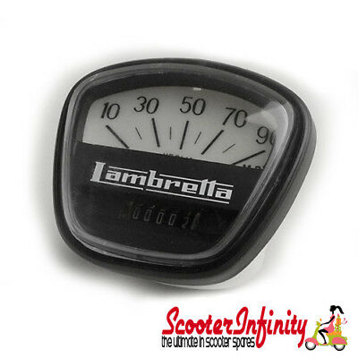 Speedometer Black Face 90MPH Lambretta (DL 200 / GP 200)