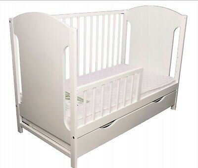 New Wooden Baby Cot/Junior Bed With Guard Rail!And Drawer!!! Mattress Optional!!