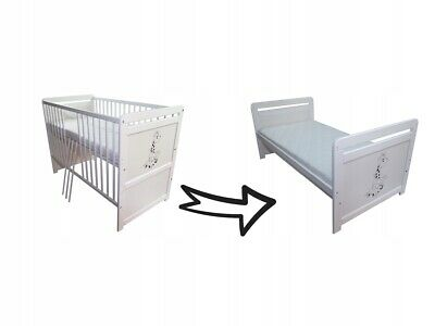 New Wooden Baby Cot Bed High Quality,  Converts To Junior Bed+Mattress, Giraffe