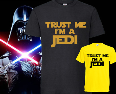 Trust me I am a jedi printed t shirt inspired by star wars  various colours