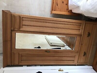 Antique mirror door wardrobe