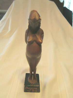 Vintage Wooden Pregnant Women - Because Of You 9 1/2 Inches