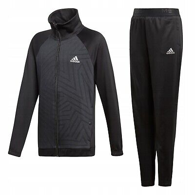NEW Adidas Messi Knit Tracksuit Suit Set Black Boys Size 13-14 Years RRP £60